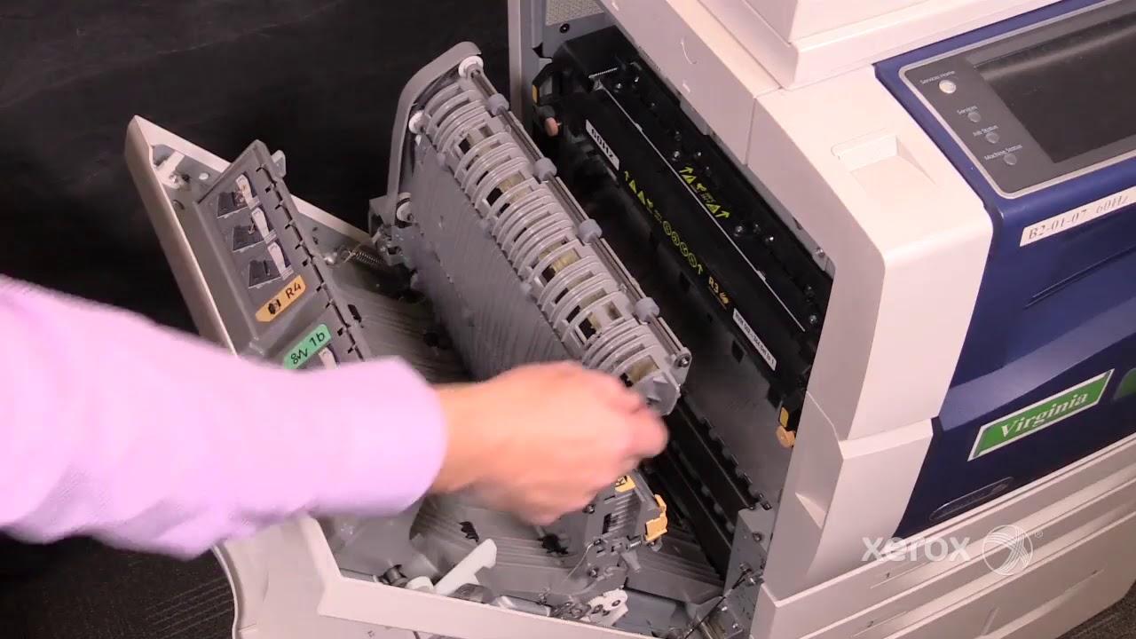 Xerox Workcentre 5945 5955 Jam Clearance Left Door Youtube
