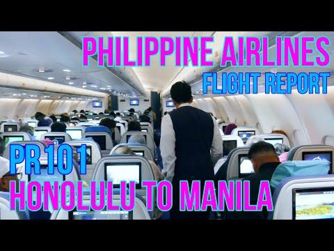 PHILIPPINE AIRLINES FLIGHT REVIEW | HONOLULU TO MANILA | PR101 | ECONOMY CLASS