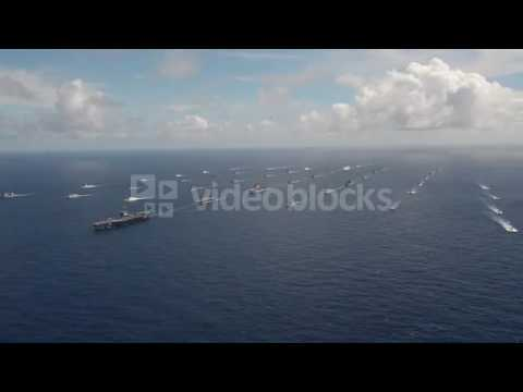 aerial video of fleet of warships during rim of the pacific exercise 2014 vkjavqiu