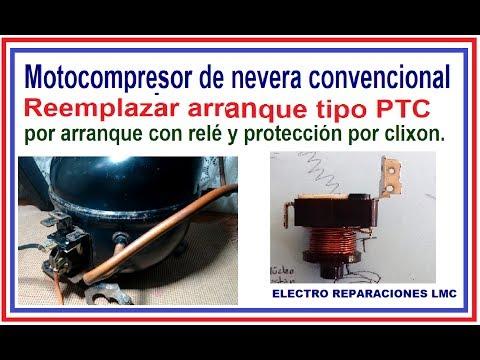 Reemplazar PTC por un relay en sistema de arranque de compresor de nevera