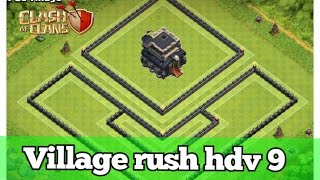 [ Clash of Clans ] Village rush hdv 9