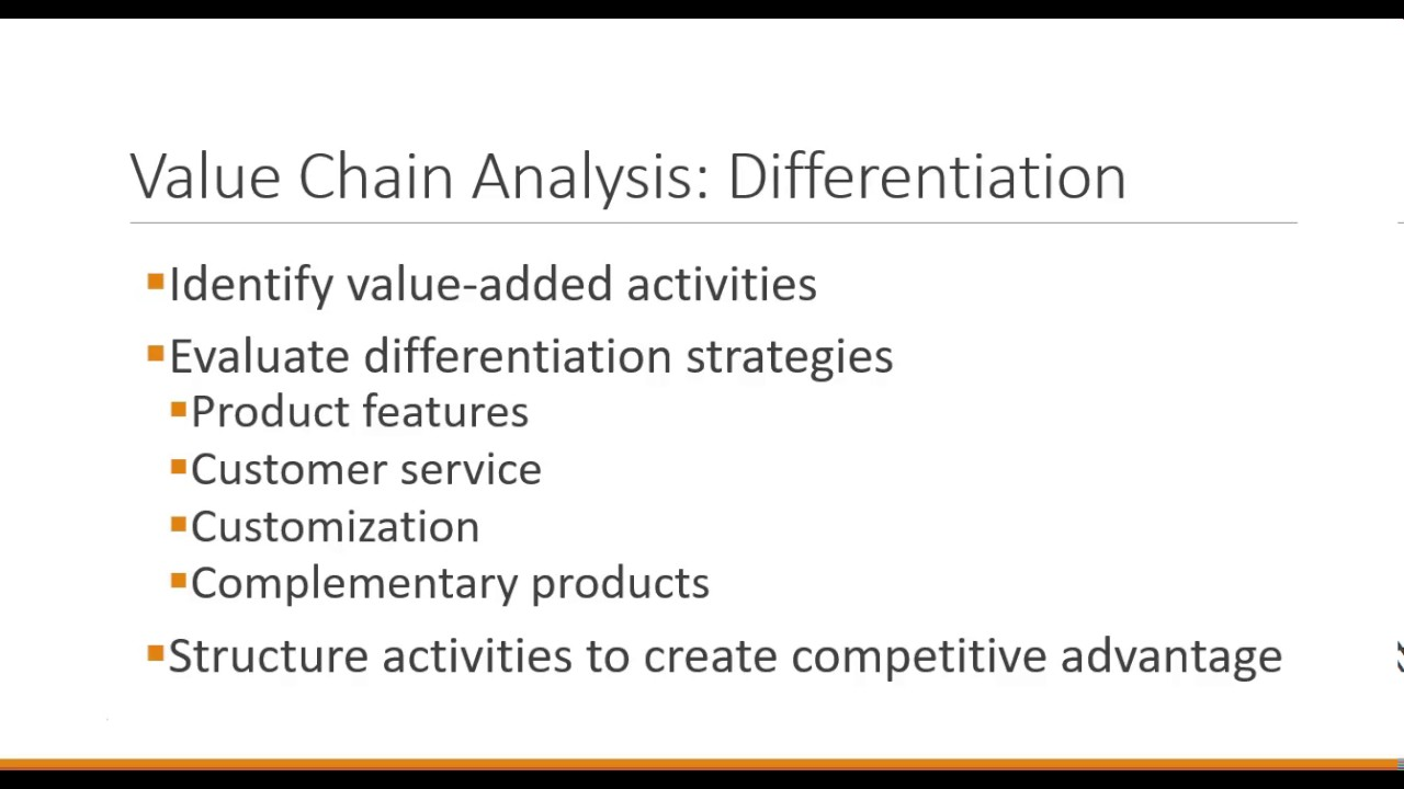 Business Strategy: Value Chain Analysis