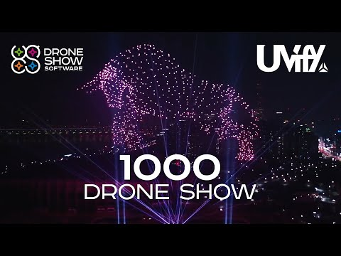 Drone Show Software advanced to run light shows with up to 1,000 UVify IFO drones