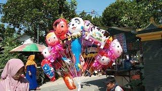 Banyak Mainan Anak Balon Karakter Terbang Boboiboy, UpinIpin, Hello Kitty, Masha, Tayo, Panda, Etc