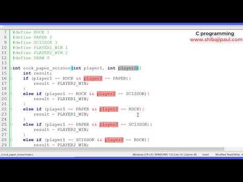 rock paper scissor part - 2 using C Programming thumbnail