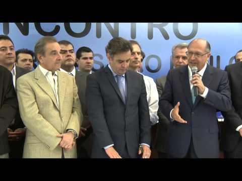 """Discurso Geraldo Alckmin: """"É tempo de Aécio Neves"""""""