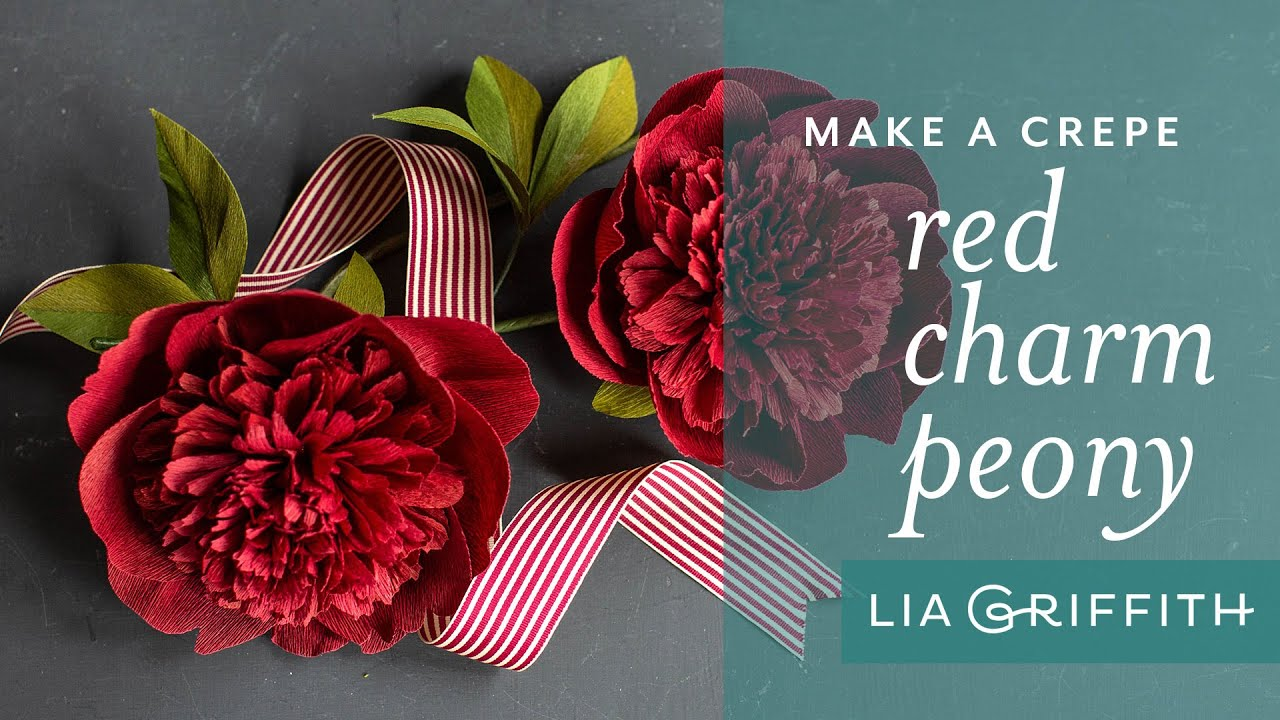 Live Video: Crepe Paper Red Charm Peony