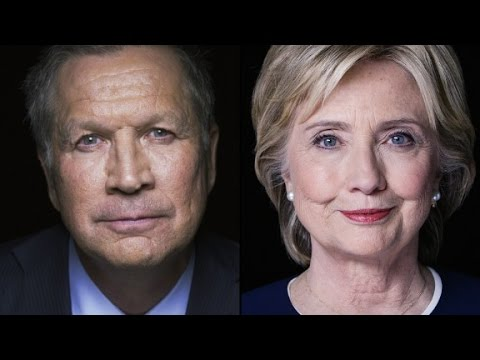 Projection: Gov. John Kasich, Hillary Clinton win Ohio
