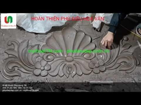 Hướng dẫn hoàn thiện phù điêu hoa văn trang trí mặt tiền nhà (phù điêu hoa văn bản đất)