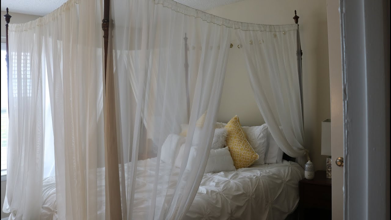 diy how to make a canopy bed under 40