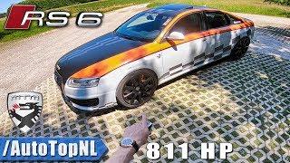 811HP Audi RS6 C6 V10 Sedan MTM | 306km/h REVIEW POV Test Drive on AUTOBAHN & ROAD by AutoTopNL