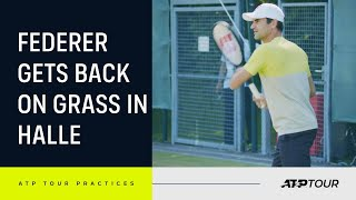 EXCLUSIVE: Federer's First Grass-Court Practice Of 2021