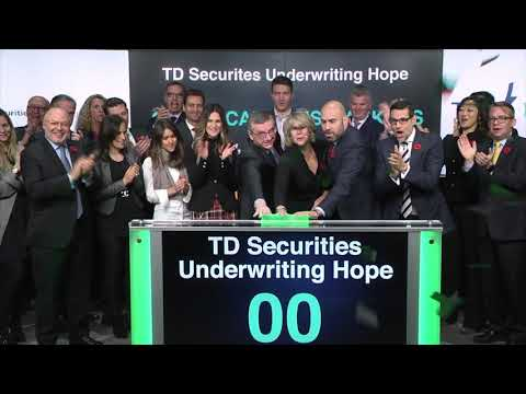TD Securities Underwriting Hope opens Toronto Stock Exchange, November 10, 2017