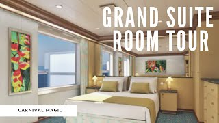 Carnival Magic Grand Suite Tour Room 7300 Youtube
