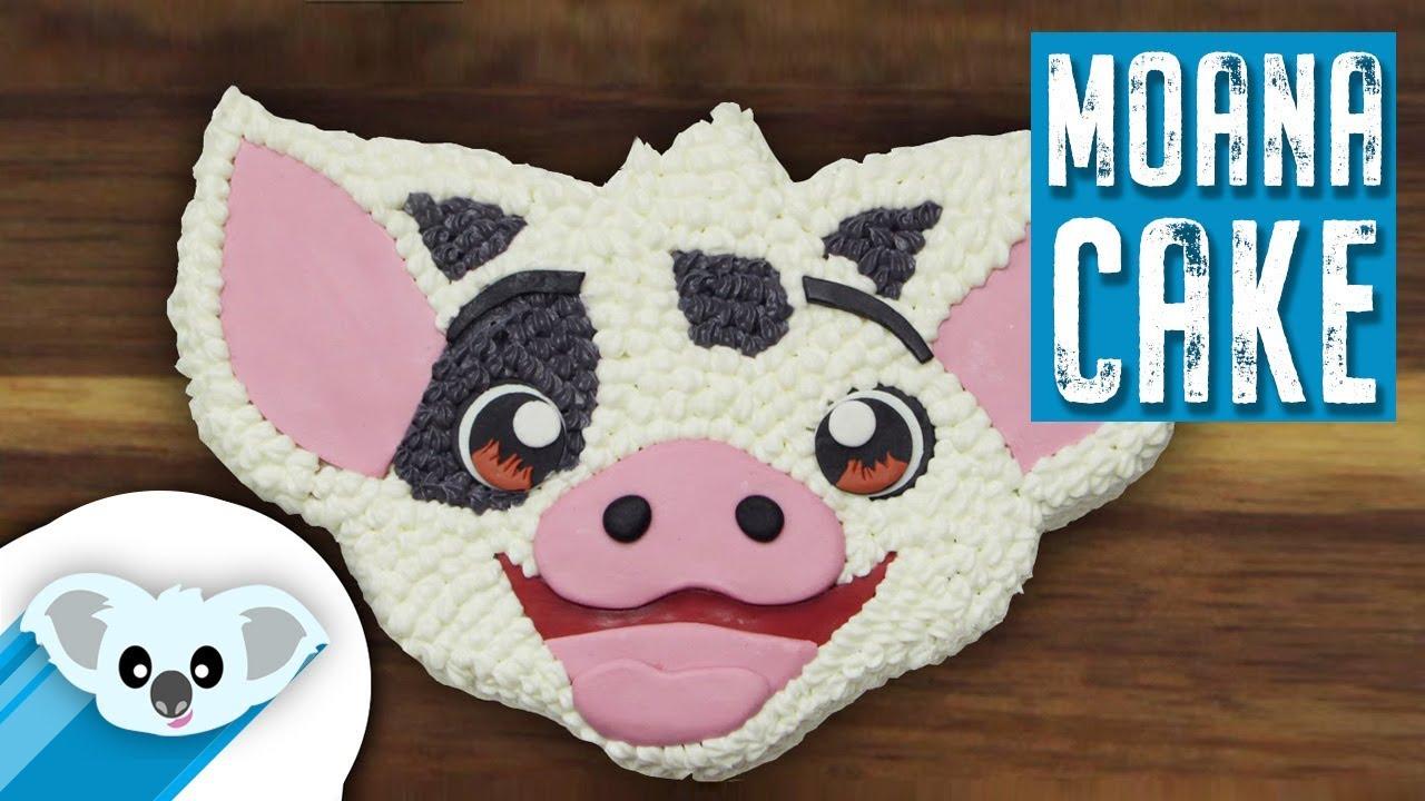 Moana Pua Cake Disney How To Youtube