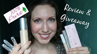 100% Pure Cosmetics Review ♥ [GIVEAWAY CLOSED]