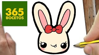 COMO DIBUJAR CONEJITA KAWAII PASO A PASO - Dibujos kawaii faciles - How to draw a Rabit