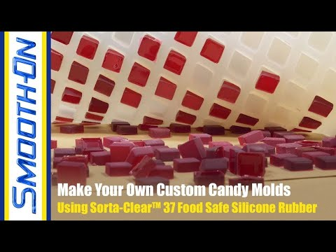 How to Make Your Own Food Safe Silicone Candy Mold - YouTube