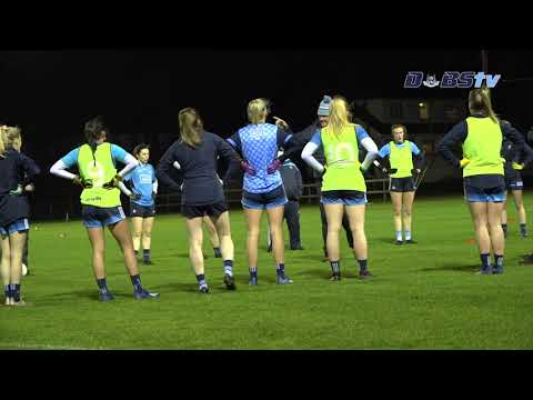 Dublin Ladies training ahead of All-Ireland Semi Final