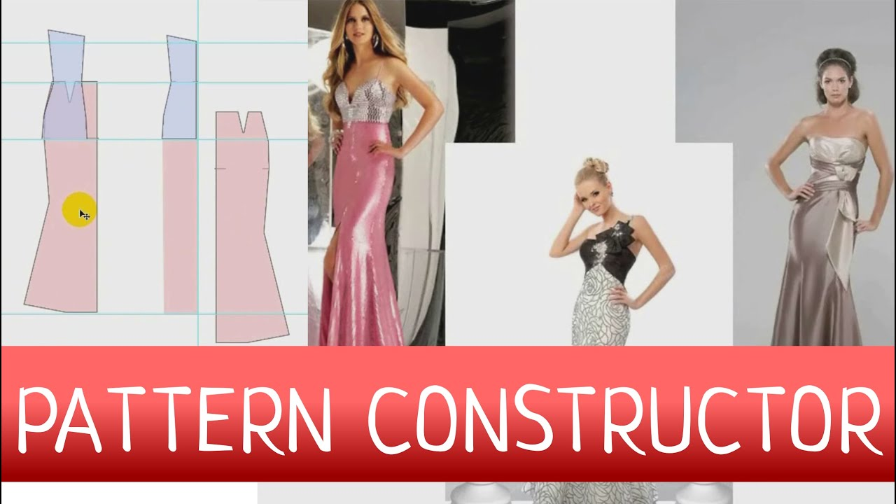 How to Craft a Dress Pattern? Sewing dress pattern constructor - YouTube