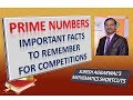 Trick 288 - IMPORTANT Facts about PRIME NUMBERS