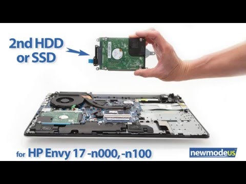 Add a 2nd HDD SSD to a HP Envy 17-n000, 17-n100, 17-nxxx