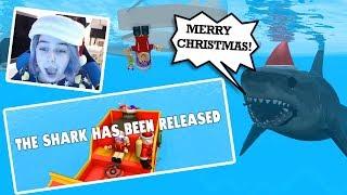 Roblox CHRISTMAS DAY SHARK BITE