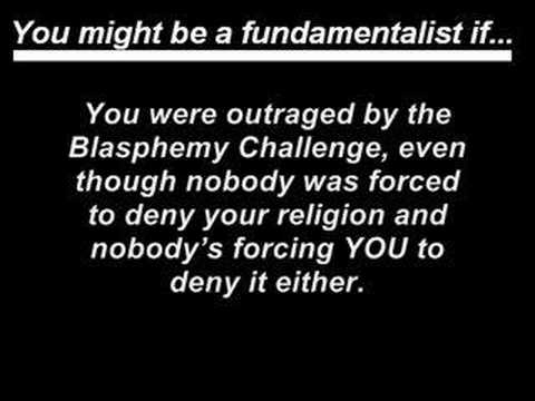 Signs You're a Fundamentalist Christian
