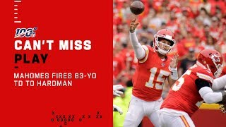 Mahomes Air Mails It to Mecole Hardman for an 83-Yd TD!