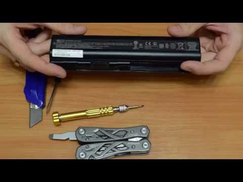 How to open laptop battery without destroying it. Disassembly laptop battery HP. In description...