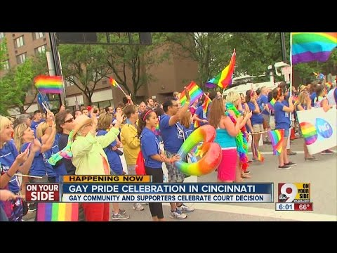 Gay pride celebration in Cincinnati
