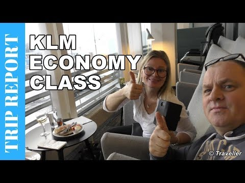 KLM ECONOMY CLASS flight to Amsterdam - Boeing 737 Flight Re