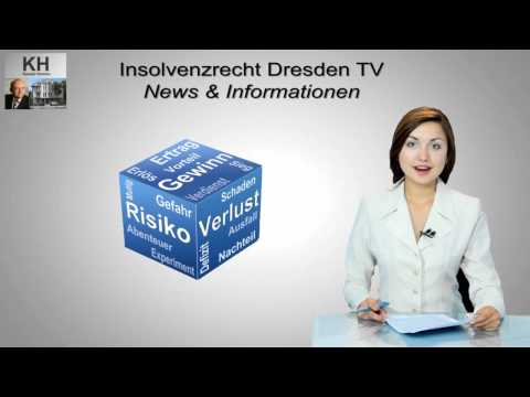 Selbstständigkeit Begründet Gefahr Einer Zweitinsolvenz - Insolvenzrecht Dresden TV