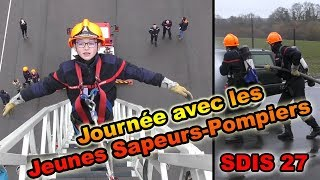 Journée avec les Jeunes Sapeurs-Pompiers SDIS 27