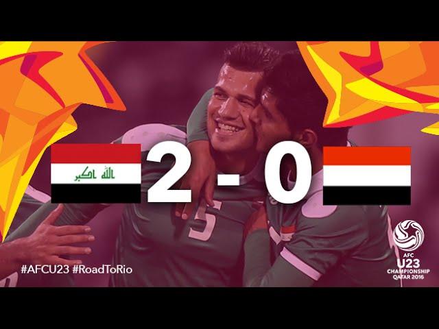 Video: U23 Iraq vs U23 Yemen