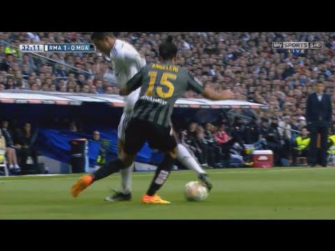 Cristiano Ronaldo InCRedible Nutmeg Skill Vs Malaga With English Commentary HD 720p
