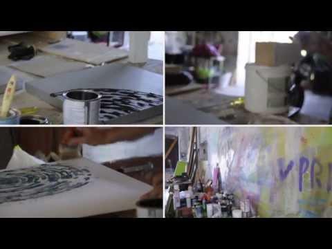 LUCA BORNOFFI - in the atelier of the italian artist and interior designer
