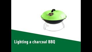 Lighting a charcoal BBQ