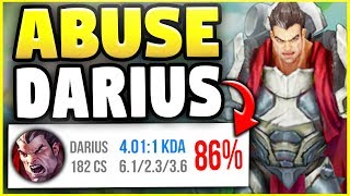HOW TO ABUSE DARIUS IN SEASON 8 RANKED IN 10 MINUTES! - League of Legends