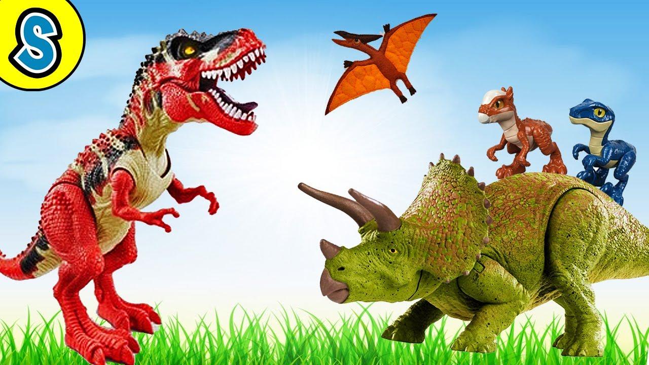 Red Trex Dino Island - Skyheart's Dinsoaurs for kids jurassic world toys battle triceratops mattel