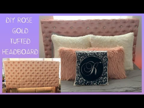 diy-luxury-rose-gold-tufted-headboard-with-diamonds!-|-queen-size-bed-|-cheap-and-easy-|-no-sew