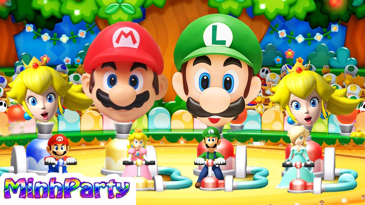 Mario Party 10 All Minigames Mario Vs Peach Vs Luigi Vs Rosalina Gameplay
