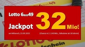 Lotto News: Am Mittwoch (23.09.) unglaubliche 32 Millionen Euro im Jackpot