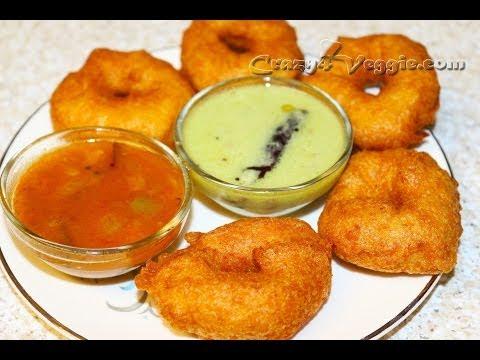 Medu vada (Indian donut) - Crispy south Indian snack recipe by crazy4veggie.com)