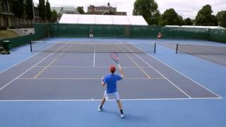 Oisin Shaffrey - Tennis Smart US Tennis College recruiting Video Fall 2018
