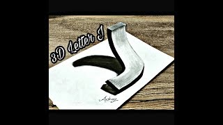 Download How To Draw 3d Letter J Drawing 3d Trick Art On