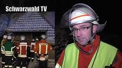 Großalarm in Herrischried – 40 Einsatzkräfte der Feuerwehr vor Ort