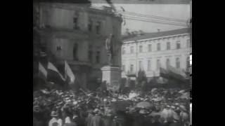 1913 год. Кадры кинохроники с открытия памятника П. А. Столыпину. Киев.