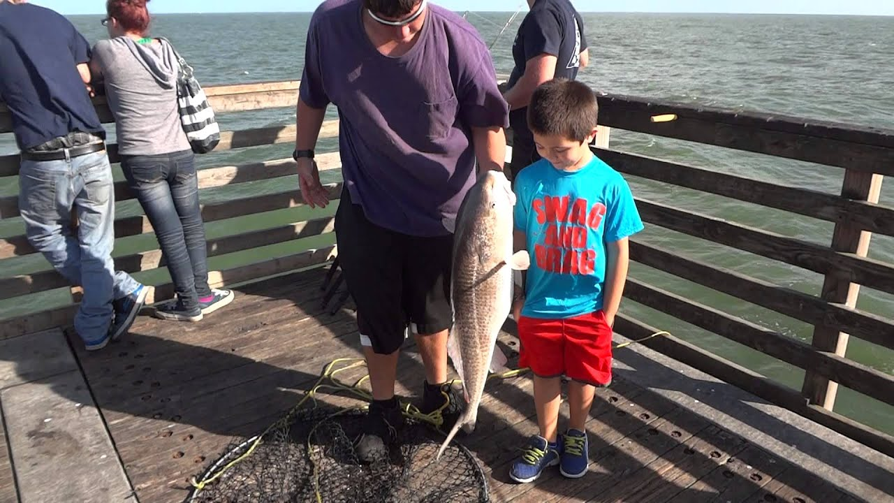 Jacksonville beach fishing pier red drum catch youtube for Fishing piers in jacksonville fl