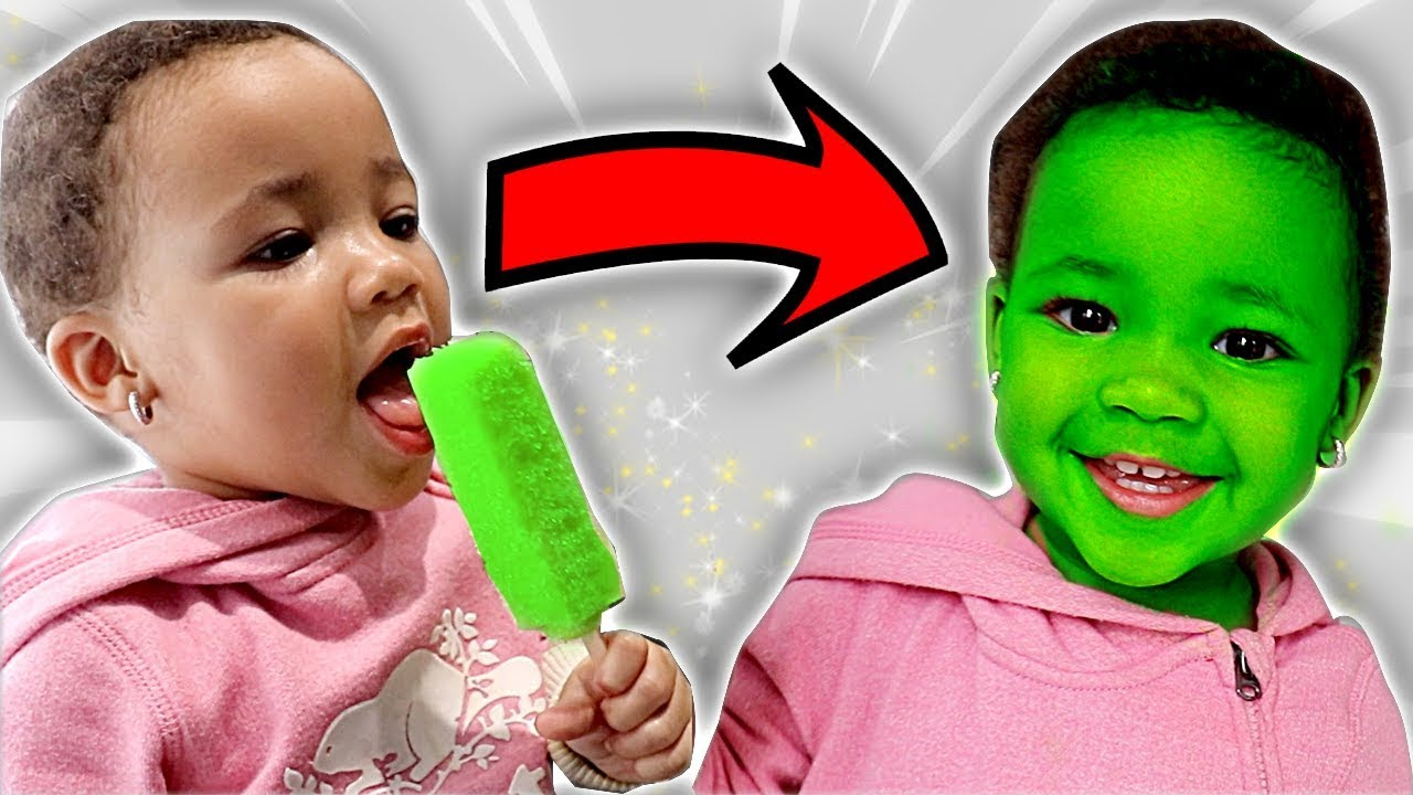 Download Popsicle Turns Baby's Face Green | FamousTubeKIDS